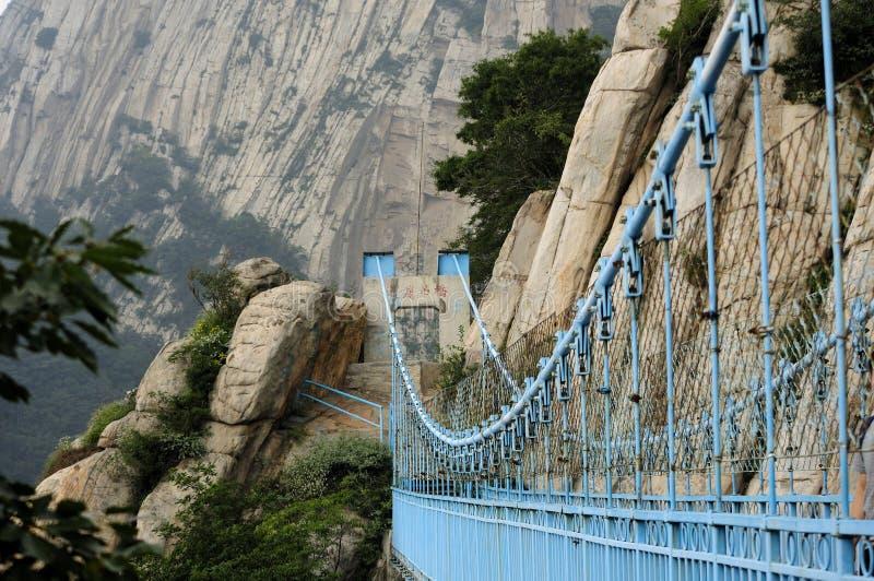 Himmelhohe Hängebrücke der Songshan stockfoto