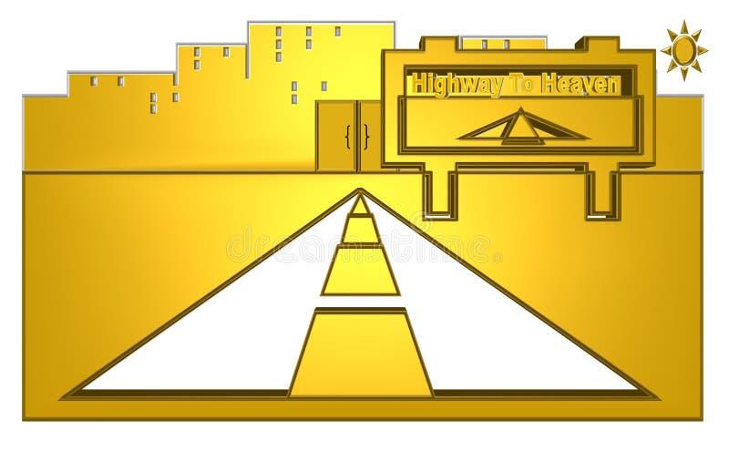 himmelhuvudväg till stock illustrationer