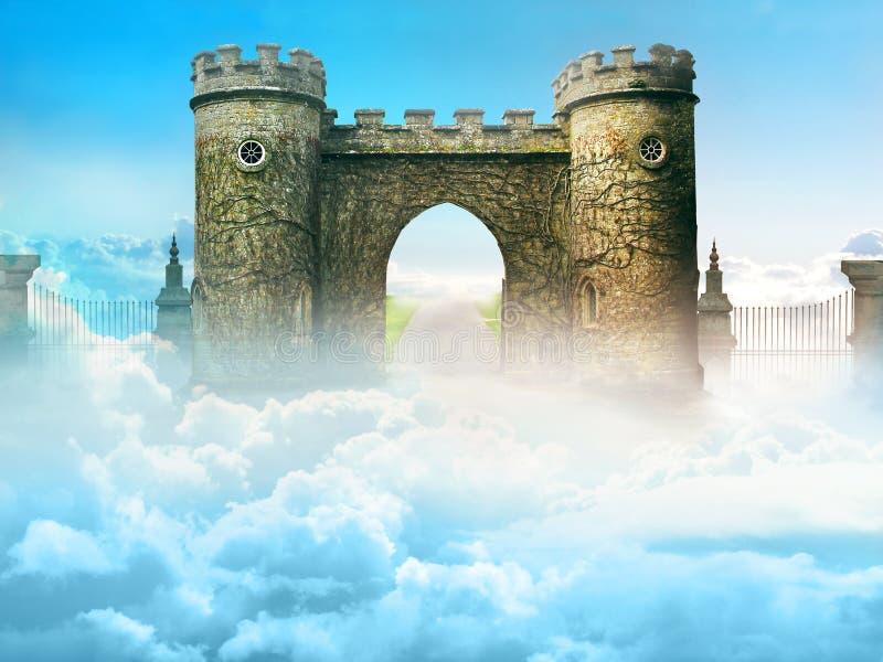 Himmels porttorn ovanför himlarna royaltyfri fotografi