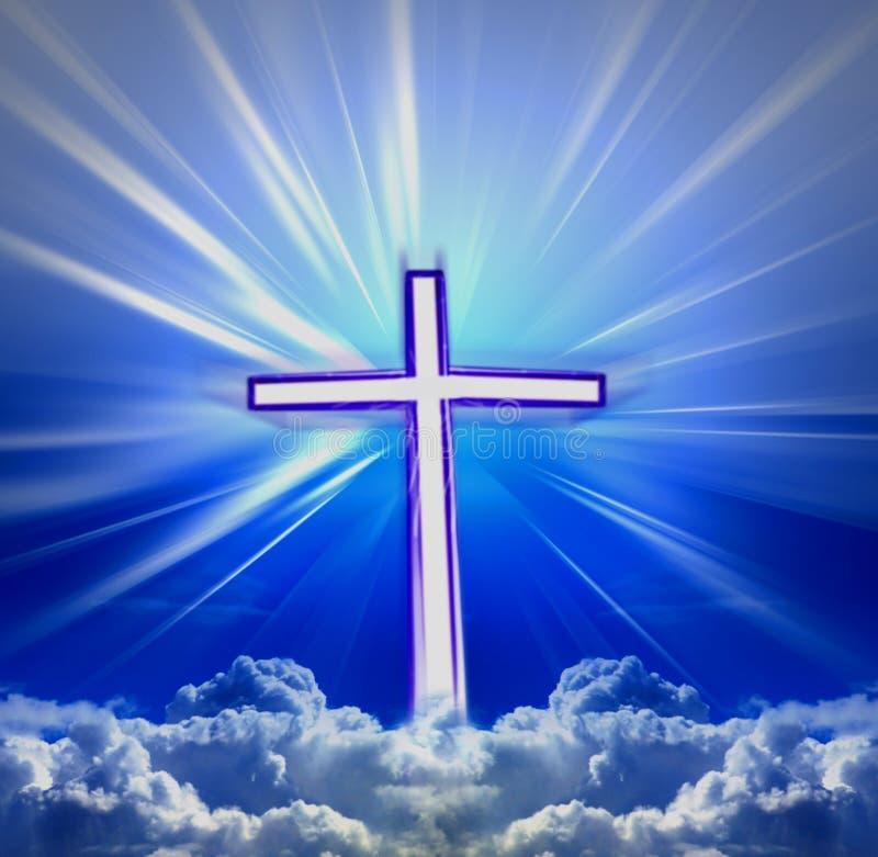 Himmelskreuz stockbilder