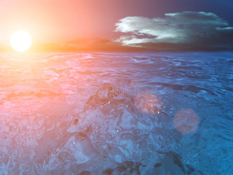 Himmelsonne bewölkt Meer lizenzfreies stockfoto