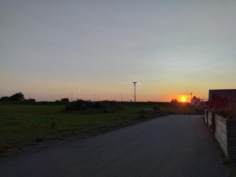 Himmelsonnenuntergang schönes abstrakt stockfotos