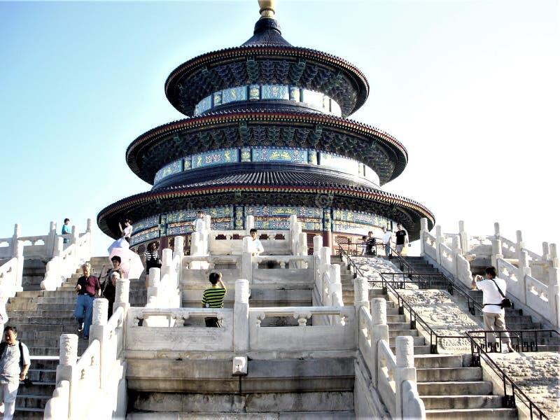 Himmelstempel in Peking-Stadt, China Stairsway, Geschichte, Zeit und Tourismus lizenzfreies stockfoto