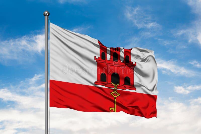 himno, contexto, fondo, bandera, el soplar, azul, ciudadano, ciudadanía, nubes, país, destino, elemento, bandera, asta de bandera stock de ilustración