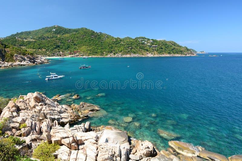Hin Ngaam zatoka koh Tao Chumphon archipelag Tajlandia obraz royalty free