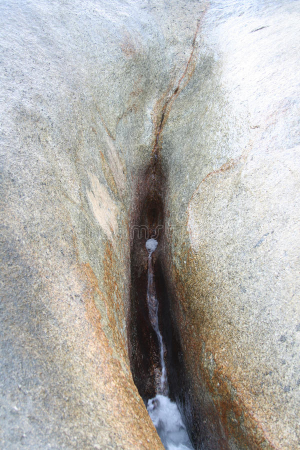 Hin Ta. Grandmother Stone. Rock which look like female genitals, located at Koh Samui, Thailand stock photo