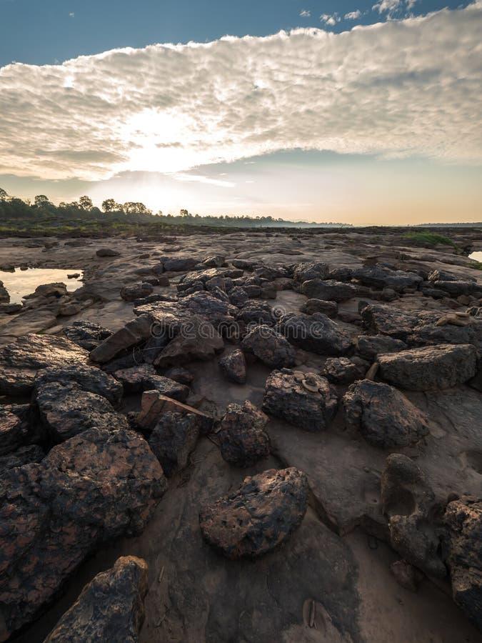 Hin widzieć przy Ubonratchathani, Tajlandia Uroczysty jar obraz stock