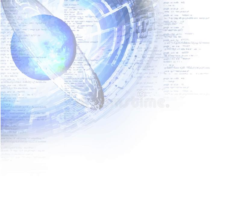 The illustration of cyber space stock illustration