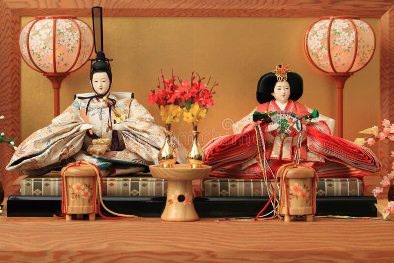 Hina docka (den japanska traditionella dockan) arkivbild