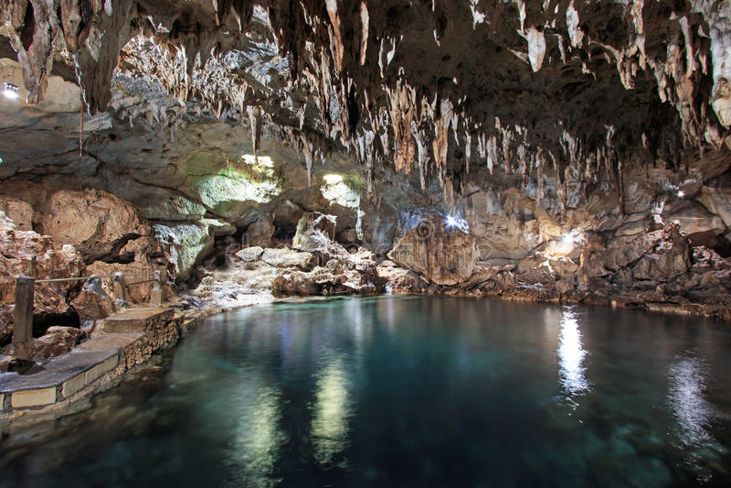 Hinagdanan-Höhle in Panglao, Bohol, in den Philippinen stockfoto