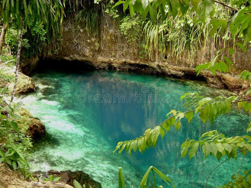 Hinatuan encantó el río, Surigao del Sur, Filipinas imagen de archivo libre de regalías