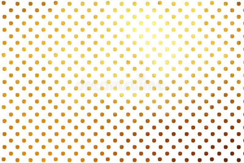 Hinaufkletternde kreative digitale abstrakte Luxusbeschaffenheit der goldenen Tupfen kopieren Hintergrund Vektorbild, Abbildung lizenzfreie stockfotografie