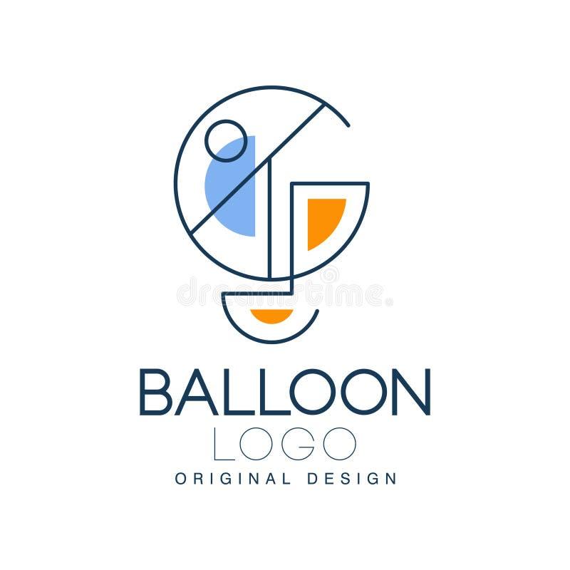 Hinche la original del logotipo, elemento del diseño para la identidad de marca corporativa, vacaciones de verano, festival, viaj ilustración del vector