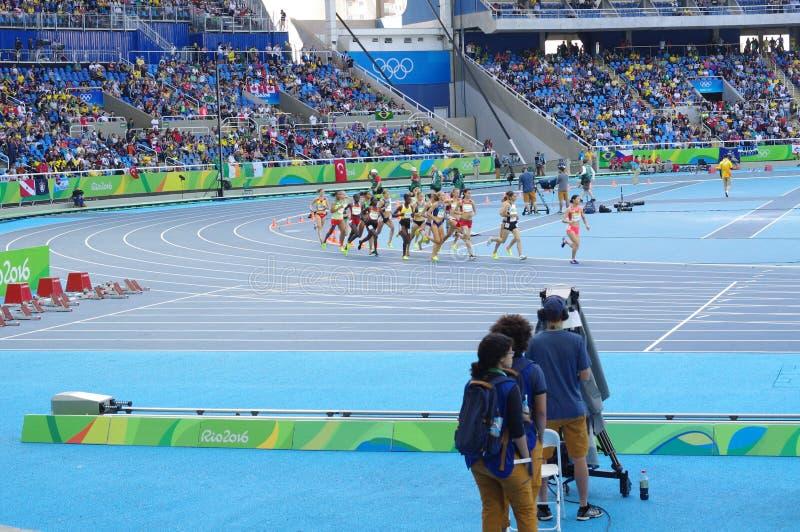 Hinderlöpningkonkurrens på Rio Olympics arkivbilder