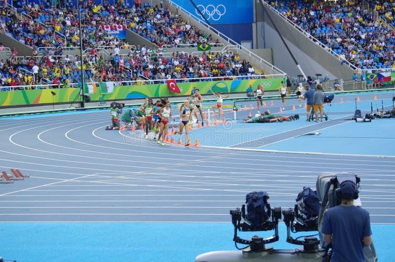 Hinderlöpningkonkurrens på Rio Olympics arkivbild