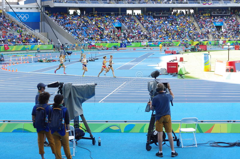 Hinderlöpningkonkurrens på Rio Olympics royaltyfria bilder