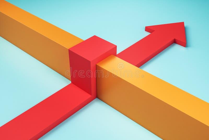 Hindernis und Erfolgskonzept stock abbildung