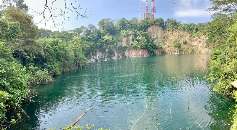 Hindhede Quarry Singapore Nature Park royalty free stock photo
