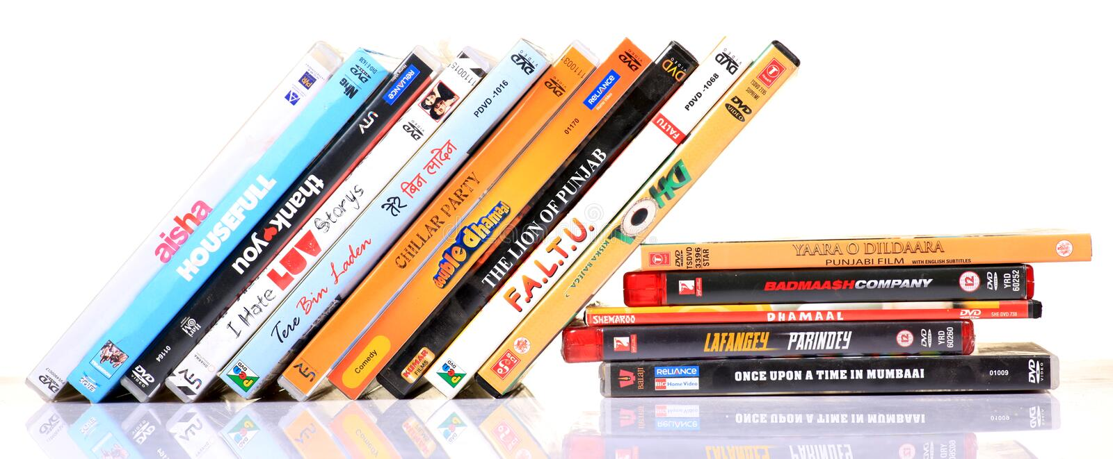 Hindi movies dvd's stock image