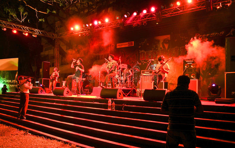 Download Hindi Rock Group-Ashwamedh Performing On Stage. Editorial Photo - Image: 16837761