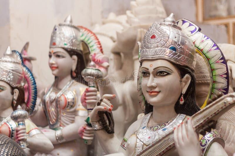 Hindische Marmorierunggötter stockfotos