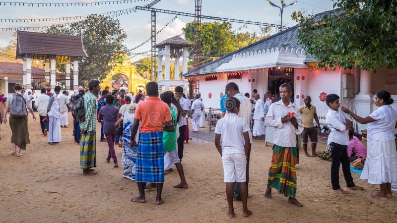 Hindische pelgrims während einer Feier lizenzfreie stockfotos