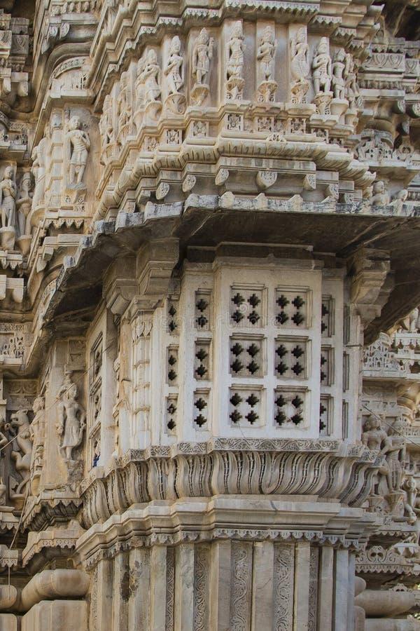 Hindische Skulptur, Jagdish Temple, Indien stockfotografie