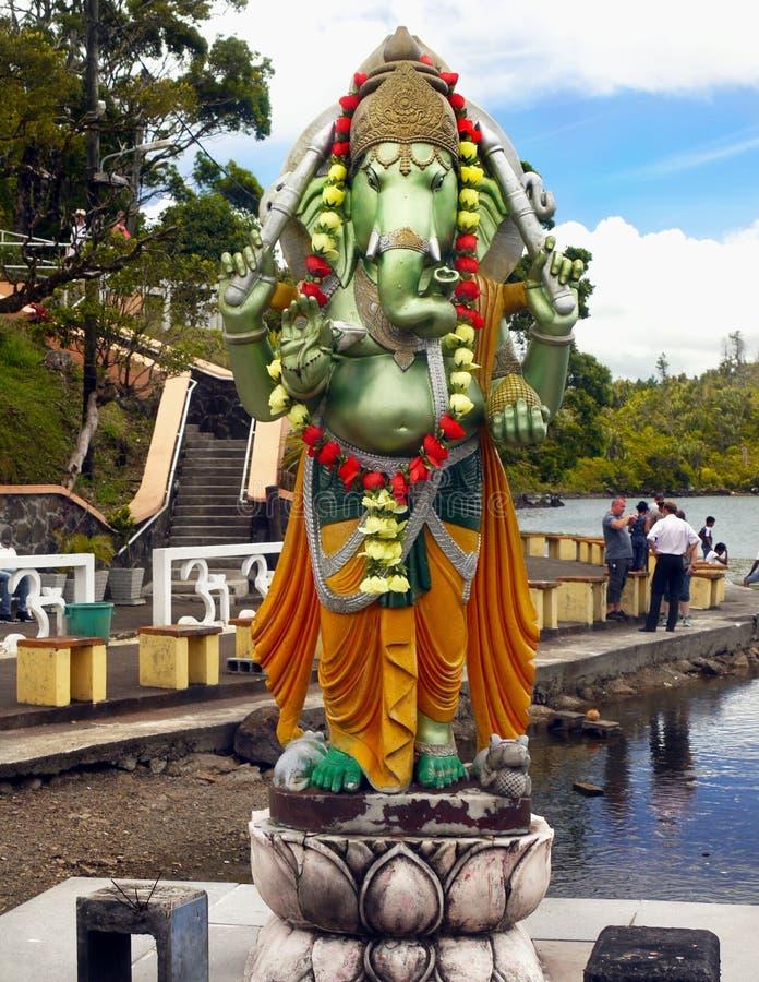 Hindischer Gott-Tempel Ganesha, Mauritius, indische Religion stockbild
