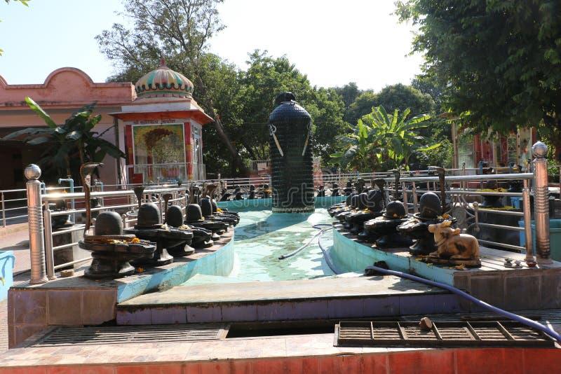 Hindischer Pilger das Shivpuri Dham lizenzfreies stockbild