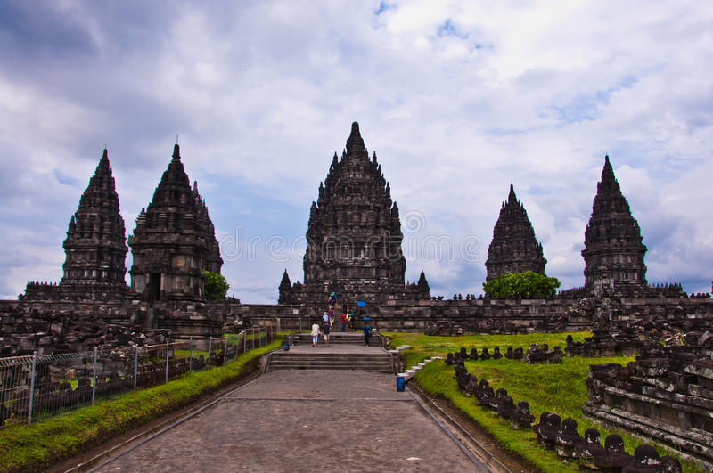 Hindischer Tempel Prambanan. Indonesien stockbild