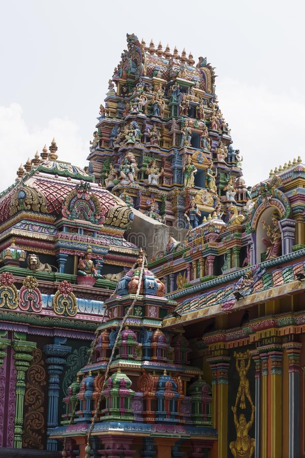 Hindischer Tempel in Trincomalee, Sri Lanka stockbild