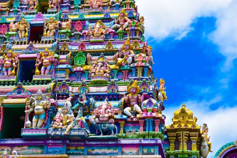 Hindischer Tempel - Victoria, Seychellen-Inseln lizenzfreies stockfoto