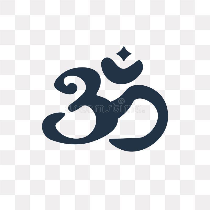 Hindoeïsme vectordiepictogram op transparante achtergrond, Hinduis wordt geïsoleerd stock illustratie