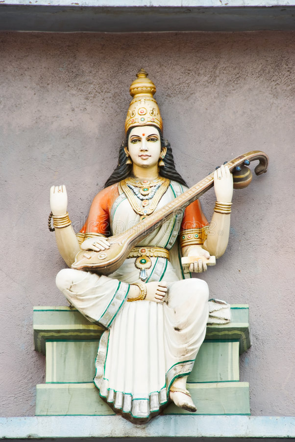 Hindoes deity standbeeld royalty-vrije stock foto