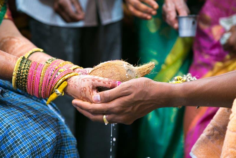 Hindoes Huwelijk Rituele Kanyadaan royalty-vrije stock foto