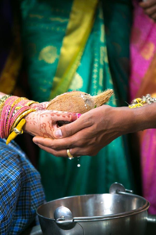 Hindoes Huwelijk Rituele Kanyadaan royalty-vrije stock fotografie