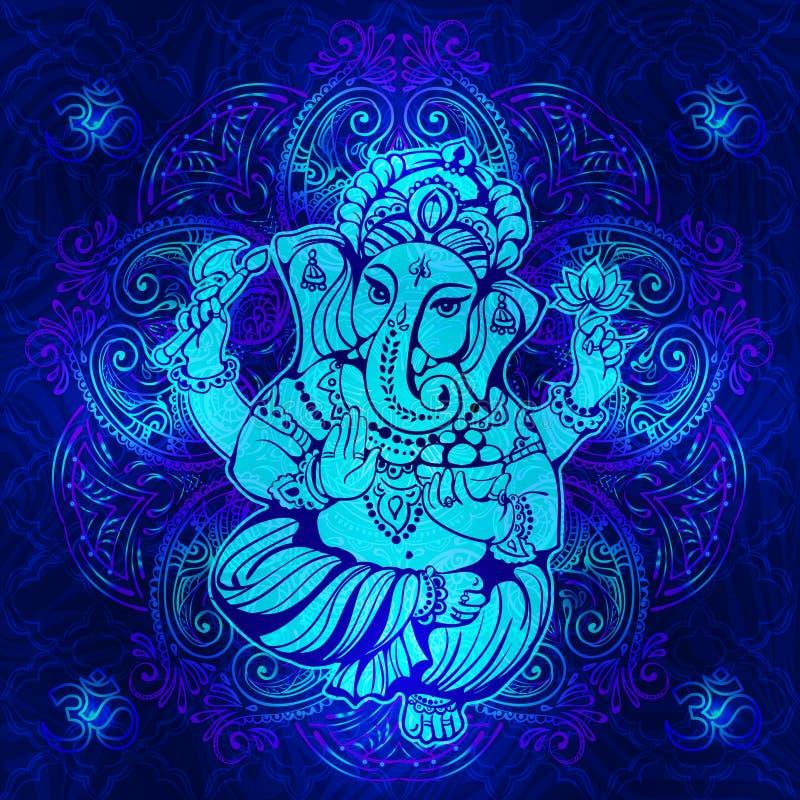 Hindoes Lord Ganesha vector illustratie