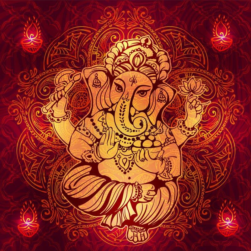 Hindoes Lord Ganesha royalty-vrije illustratie