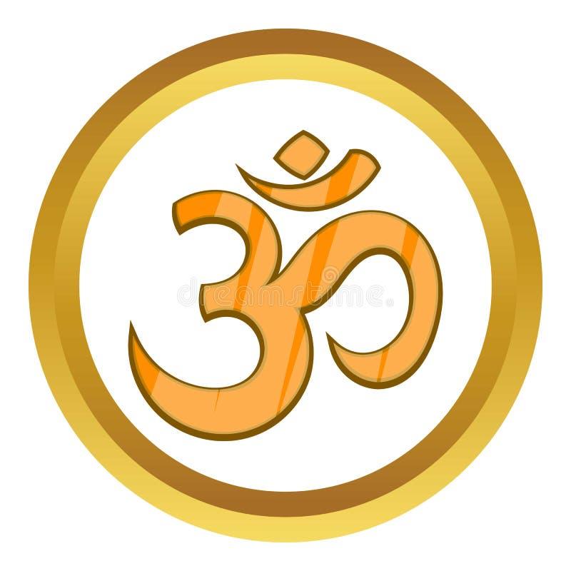 Hindoes Om symbool vectorpictogram royalty-vrije illustratie