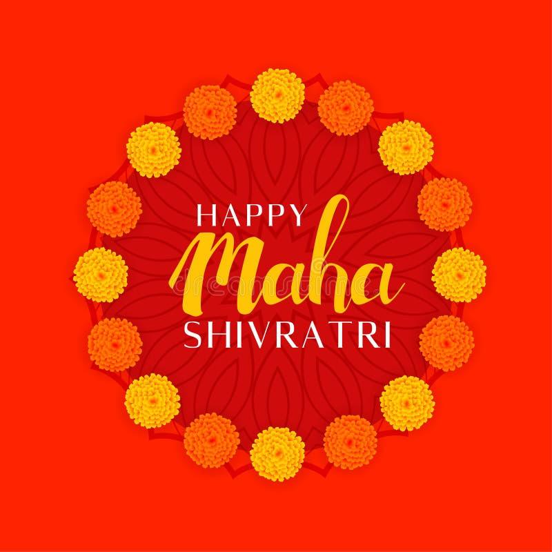 Hindoes shivratrifestival van Maha van Lordshiva met bloemdecoratie vector illustratie