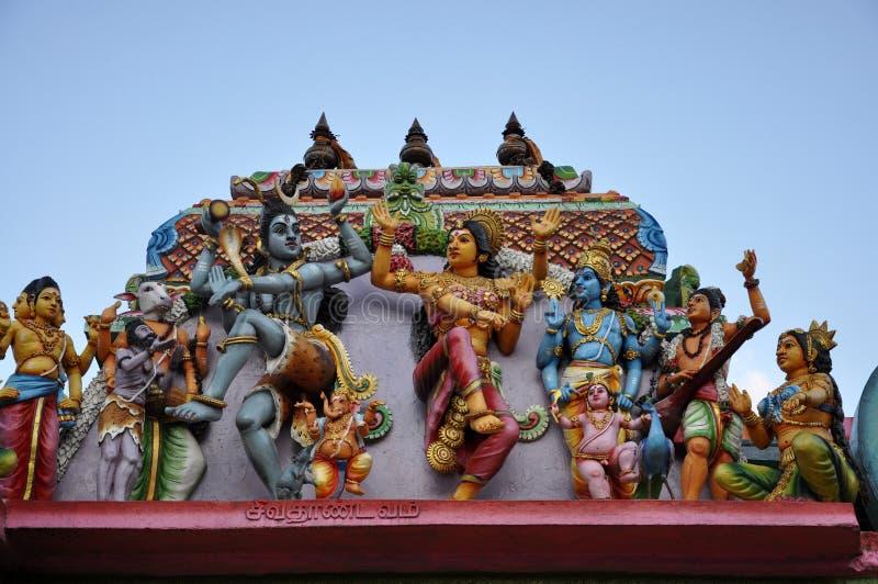 Hindoes tempeldak in Sri Lanka stock foto