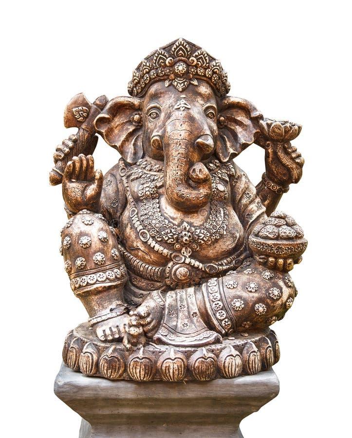 Hindoese die god Ganesh op wit wordt geïsoleerd stock foto