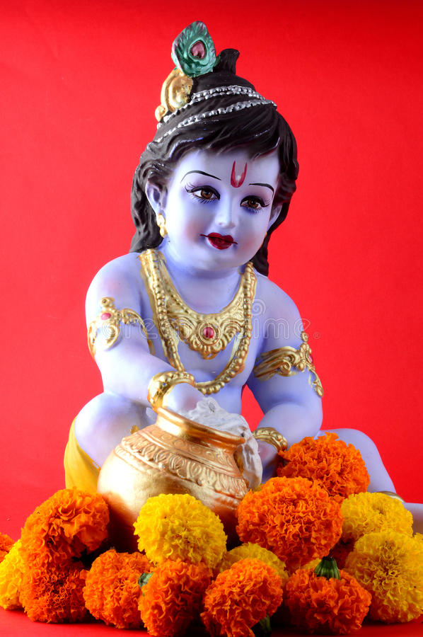 Hindoese God Krishna stock foto