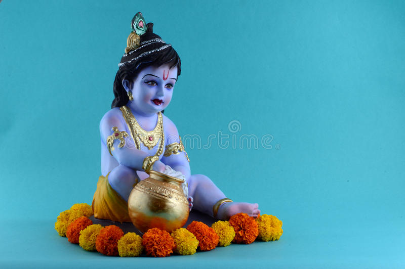 Hindoese God Krishna stock fotografie