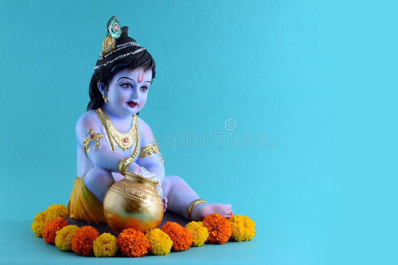 Hindoese God Krishna stock foto's