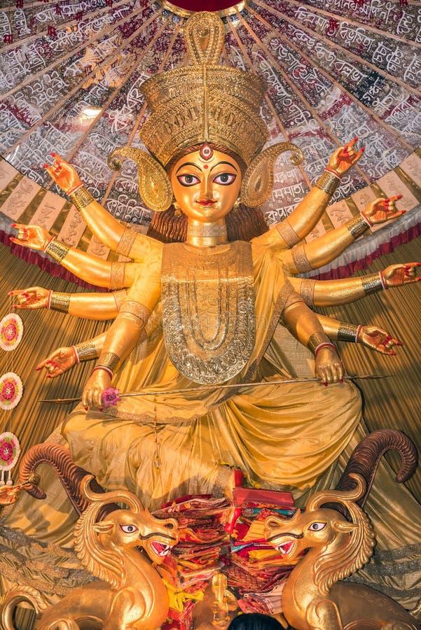 Hindoese godin aanbeden Durga stock fotografie