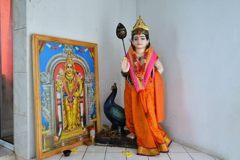 Hindoese godin Postde Flacq, Mauritius stock foto's