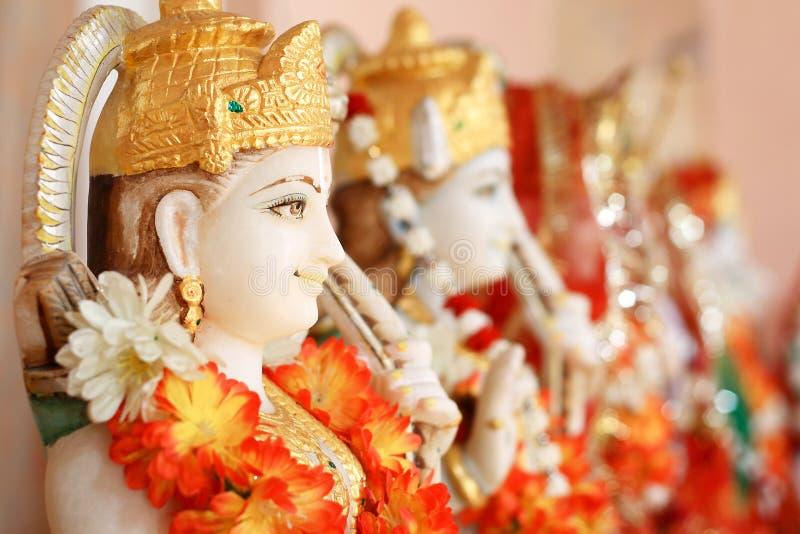 Hindoese godsstandbeelden stock foto