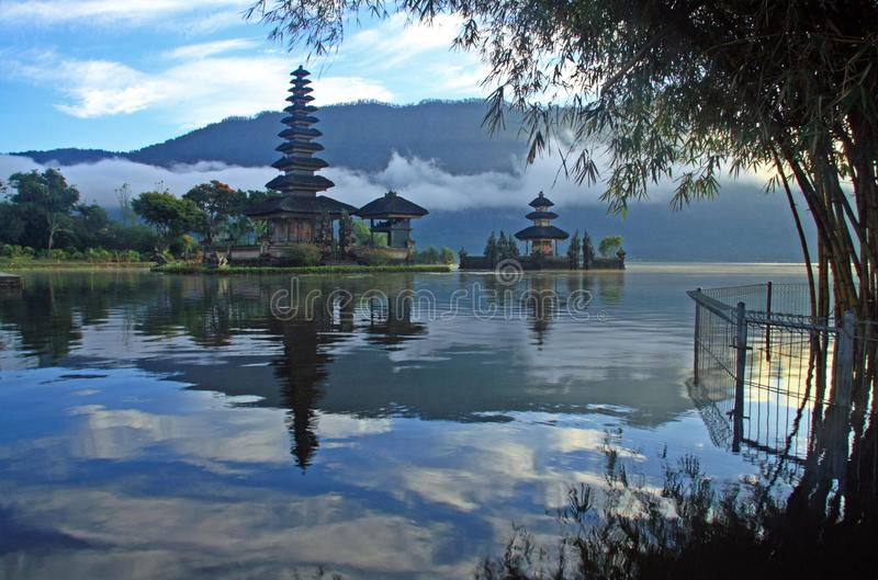 Hindoese Pura in Bedugul Bali royalty-vrije stock foto