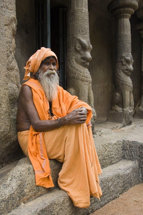 Hindoese Sadhu - Mamallapuram - India royalty-vrije stock foto's